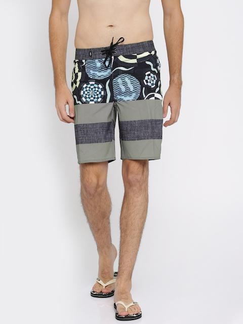 Vans Men Black & Grey Printed Regular Fit Shorts