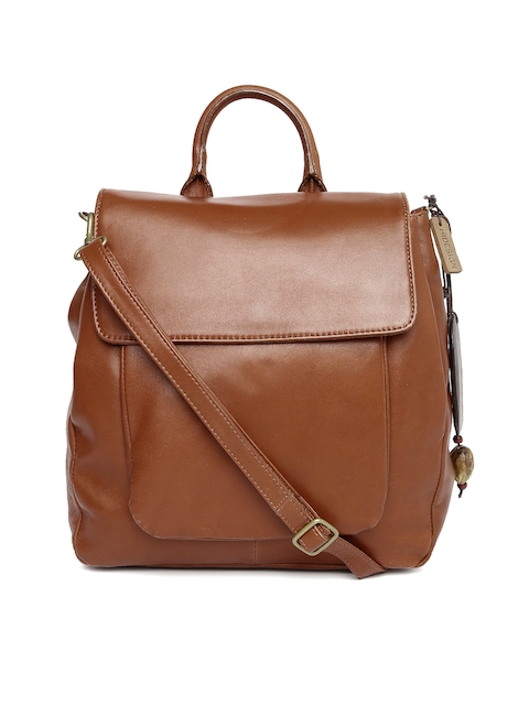 Hidesign Brown Leather Sling Bag  available at myntra for Rs.5246