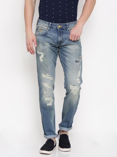 Wrangler Men Blue Low-Rise Rockville Tapered Leg Jeans