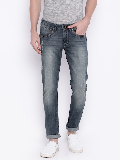 Wrangler Men Blue Low-Rise Vegas Skinny Fit Jeans