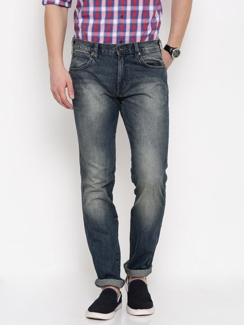 Wrangler Men Blue Greensboro Fit Jeans
