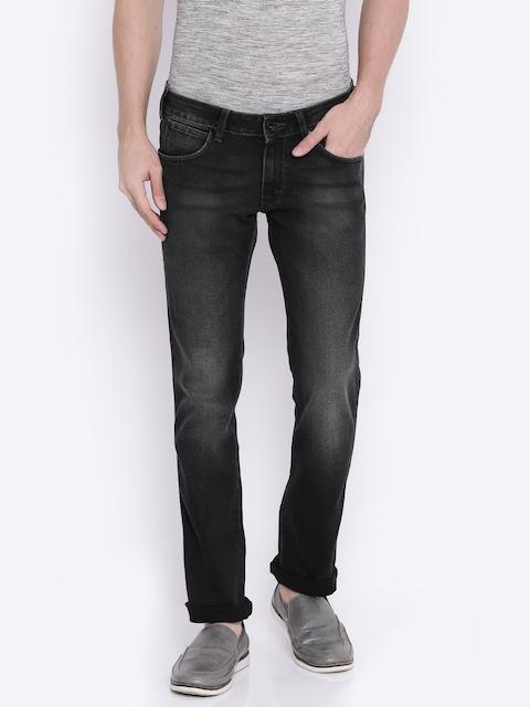 Wrangler Men Black Slim Fit Stretchable Jeans