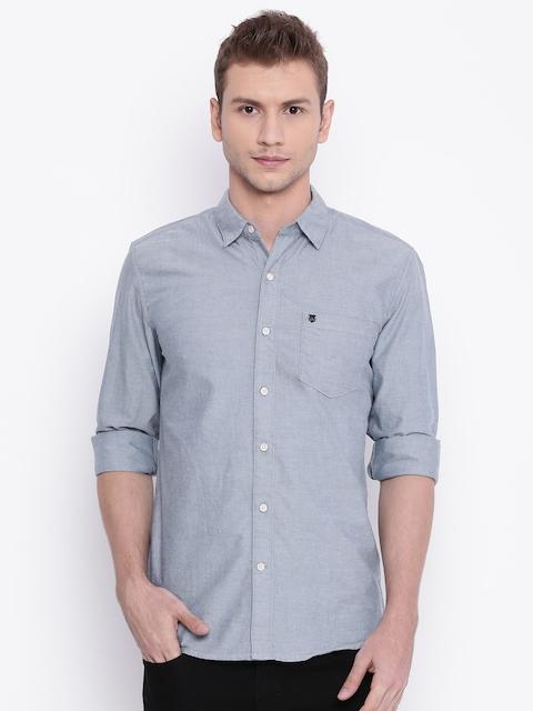 Wrangler Men Blue Casual Shirt
