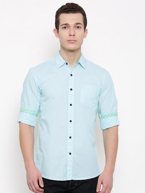 Wrangler Men Blue Regular Fit Solid Casual Shirt