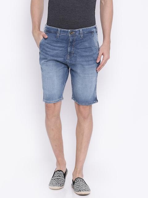 Wrangler Blue Washed Denim Shorts