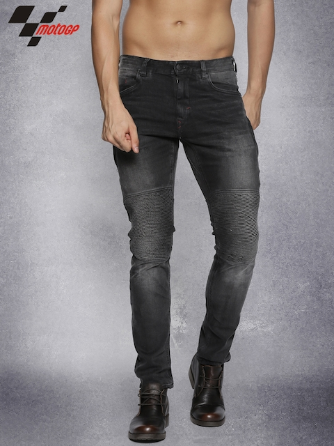 Roadster Men Black Slim Fit Mid-Rise Clean Look Stretchable Jeans