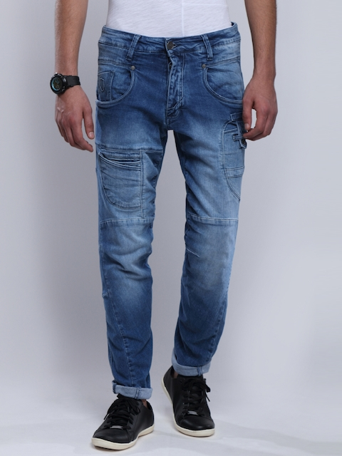 883 Police Men Blue Slim Fit Stretchable Jeans
