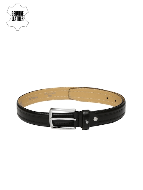 Louis Philippe Men Black Genuine Leather Belt