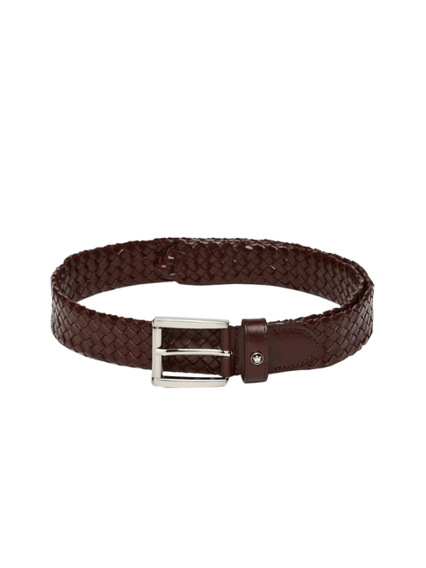 Louis Philippe Men Brown Woven Design Belt