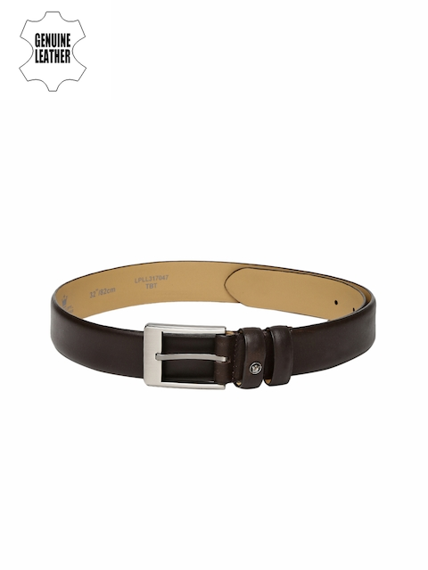 Louis Philippe Men Brown Solid Belt