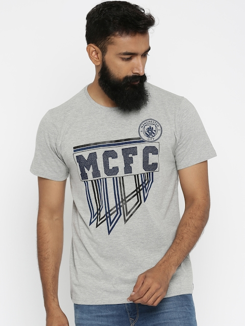 Manchester City FC Grey Printed T-shirt