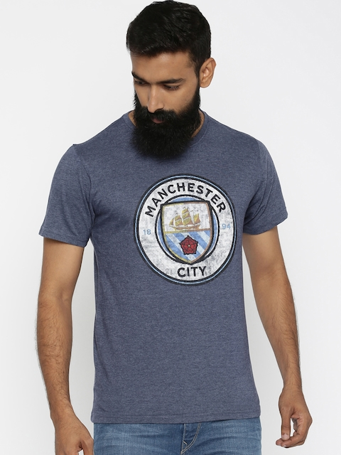 Manchester City FC Navy Blue Printed T-shirt