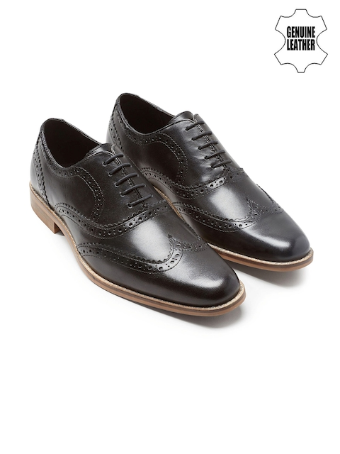 next Men Black Genuine Leather Formal Shoes