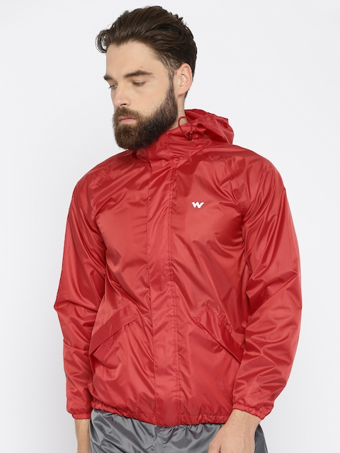 Wildcraft Red Hodded Rain Jacket