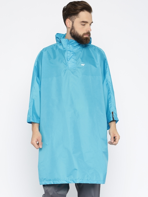 Wildcraft Blue Hodded Rain Poncho Jacket