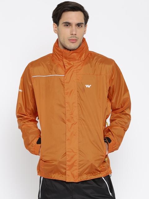 Wildcraft Orange Checked Rain Jacket