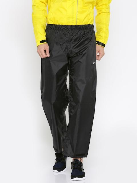 Wildcraft Black Waterproof Rain Trousers