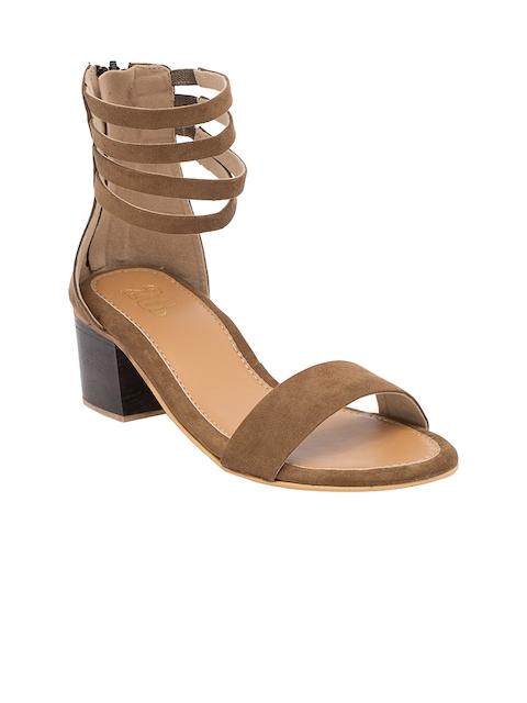 20Dresses Women Brown Block Heels