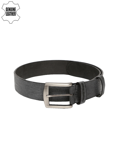 Fastrack Men Grey Genuine Leather Belt