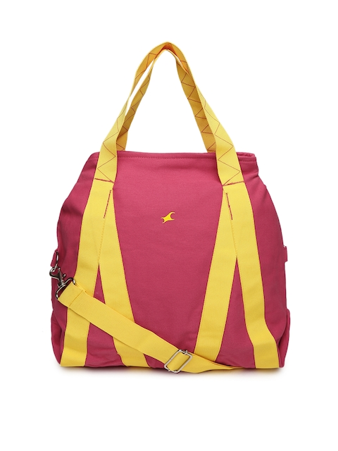 Fastrack Pink & Yellow Colourblocked Shoulder Bag  available at myntra for Rs.897