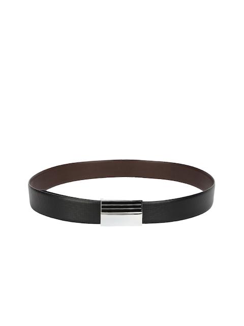 CHISEL Men Black Textured Leather Belt