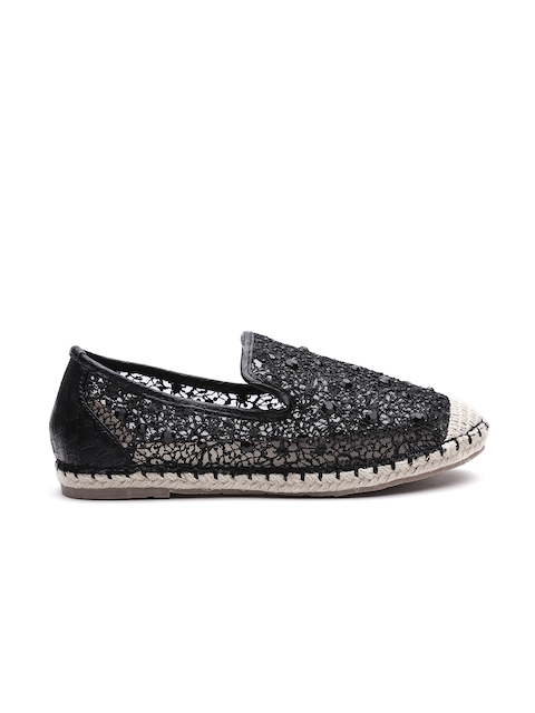 Carlton London Women Black Embellished Espadrilles