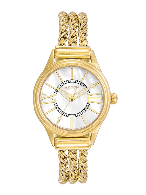 ASPEN Women White Dial Gold-Plated Watch AP1989