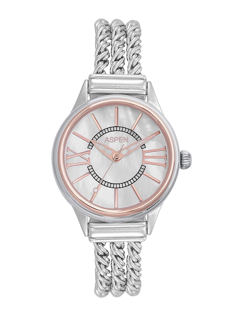 ASPEN Women White Dial Silver-Plated Watch AP1991