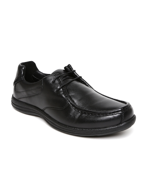 Hush Puppies Men Black Leather Dominic Derbys