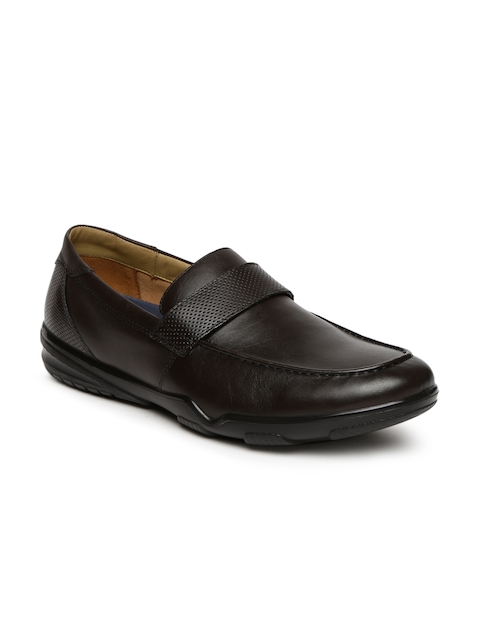 Hush Puppies Men Coffee Brown Leather Semiformal Slip-Ons