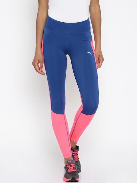 Puma Blue & Pink Speed Tights