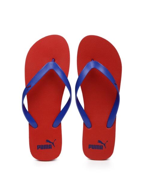 Puma Unisex Blue & Red Odius Flip-Flops