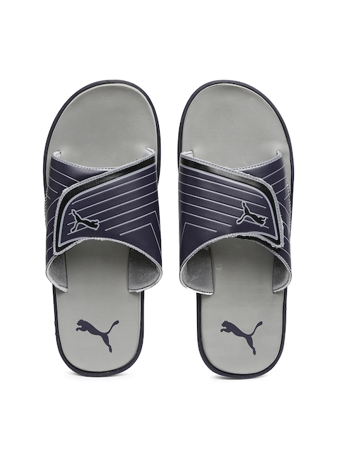 Puma Men Navy Bow Cat Flip-Flops