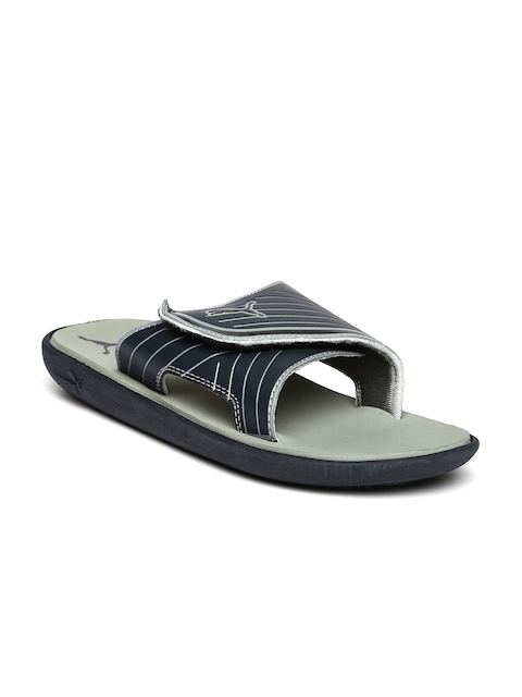 Puma Men Navy & Grey Printed Bow Cat Flip-Flops
