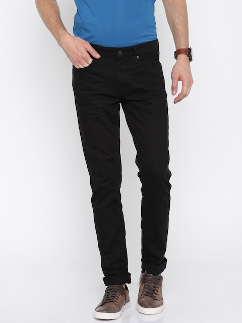 Jack & Jones Men Black Skinny Fit Low-Rise Stretchable Jeans
