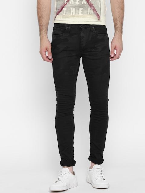 Jack & Jones Men Black Skinny Fit Stretchable Jeans