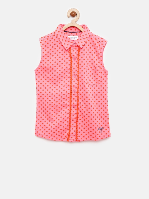 U.S. Polo Assn. Kids Girls Printed T-shirt  available at myntra for Rs.449