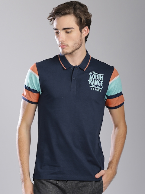 Kappa Men Navy Solid Polo T-Shirt
