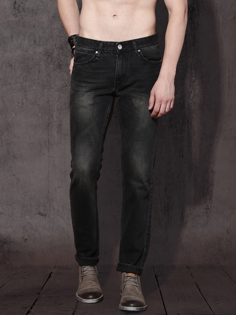 Roadster Men Black Slim Fit Mid-Rise Clean Look Jeans