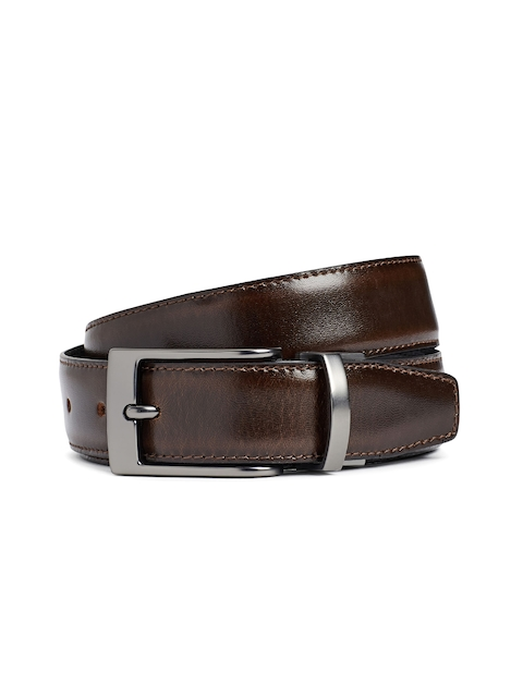 Next Men Black & Brown Leather Reversible Belt