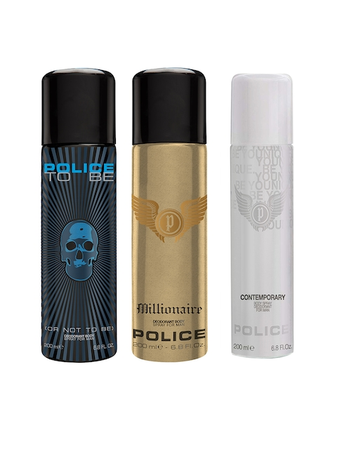 Police Men Set of 2 Contemporary + To Be Man + Millionaire Deodorants