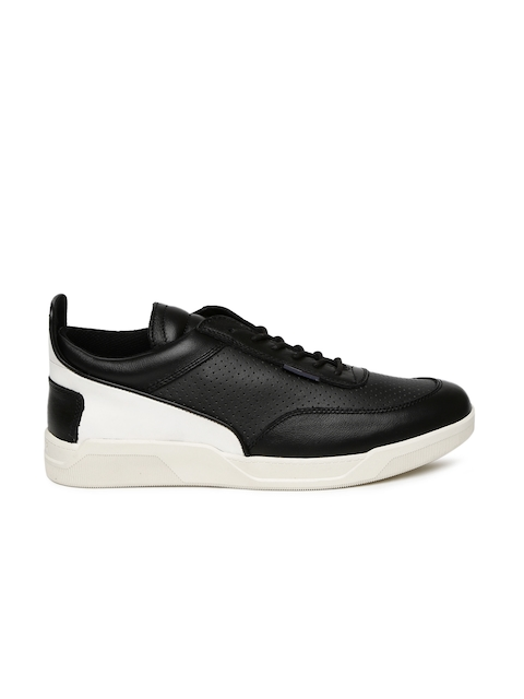 Tommy Hilfiger Men Black & White Colourblocked Sneakers