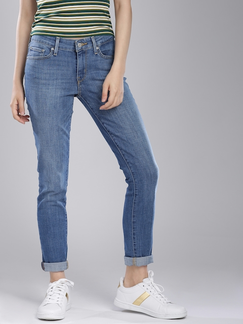 Levis 711 Women Blue Skinny Fit Rinse Wash Stretchable Jeans