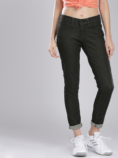 Levis Women Black Skinny Fit Stretchable Jeans