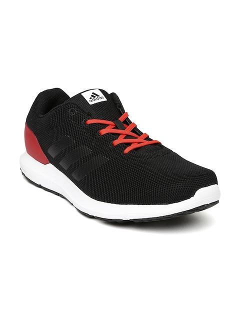 Adidas Men Black & Red Colourblocked Cosmic M Running Shoes