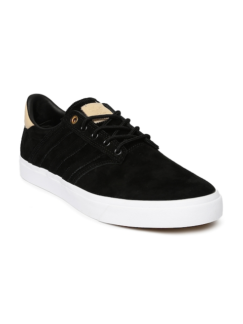 Adidas Originals Men Black SEELEY PREMIERE CLASSIFIED Suede Skate Shoes  available at myntra for Rs.3199