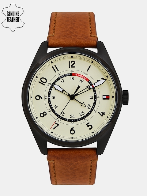 Tommy Hilfiger Men Cream-Coloured Analogue Watch TH1791372J