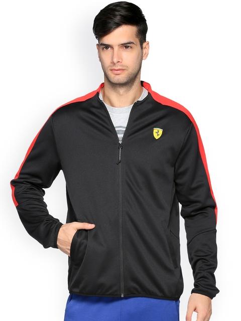 Puma Ferrari Men Black SF T7 Track Jacket
