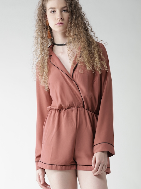FOREVER 21 Dusty Pink Playsuit