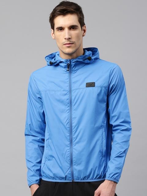 HRX by Hrithik Roshan Men Blue Solid Duster Jacket